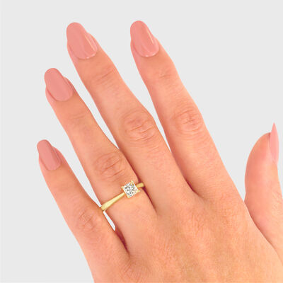 My Girl Solitaire Diamond Engagement Ring in 18K Yellow Gold, , large image number null