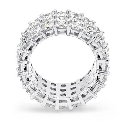 13.00 Carat My Girl Triple Row Diamond Eternity Ring in Platinum, , large image number null