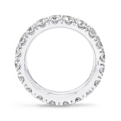 3.00 Carat Round Brilliant Cut Diamond Eternity Ring in 18K White Gold, , large image number null