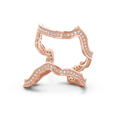 My Africa Diamond Wrap Ring in 18K Rose Gold, , large image number null
