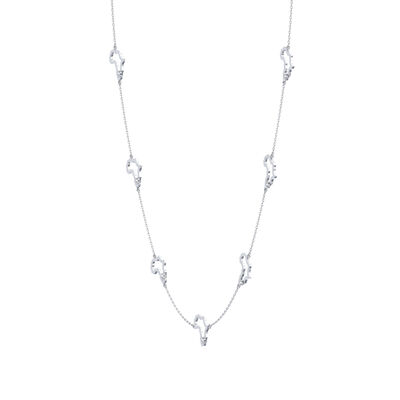 My Africa Diamond Station Necklace in 14K White Gold, , large image number null