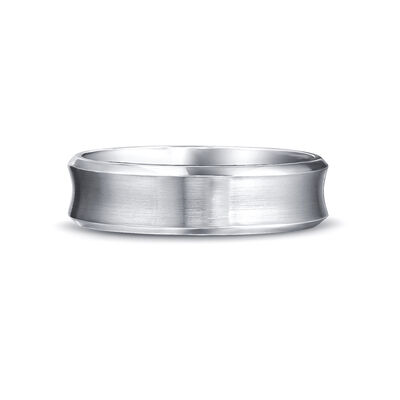 Max-Line Concave Wedding Band in Palladium, , large image number null