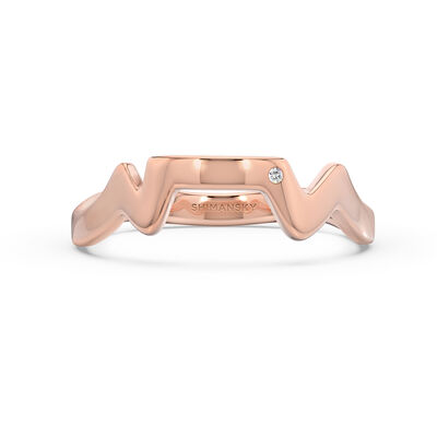 Table Mountain Single Diamond Ring in 14K Rose Gold, , large image number null