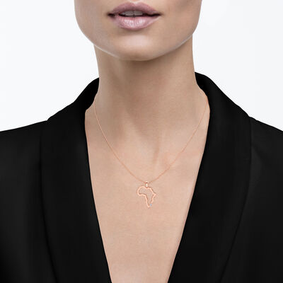 My Africa Large Diamond Pendant in 14K Rose Gold, , large image number null