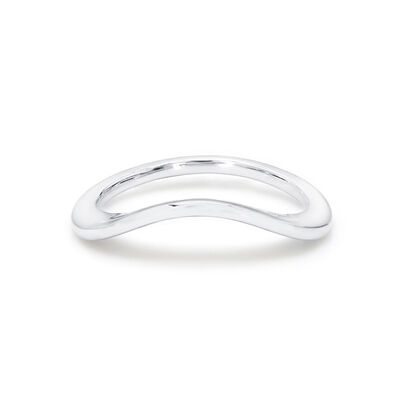 Silhouette Wedding Band in 18K White Gold, , large image number null