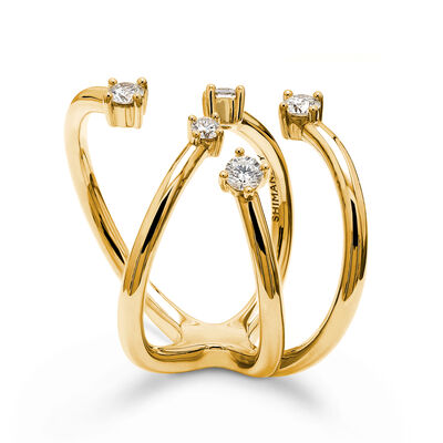 Southern Cross Diamond Ring in 18K Yellow Gold, , large image number null