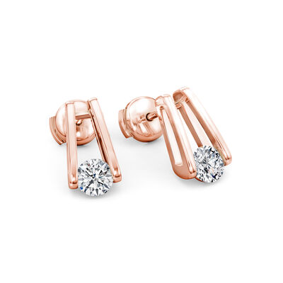 The Shimansky Iconic Millennium Diamond Earrings in 18K Rose Gold, , large image number null