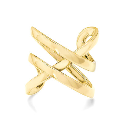 Double Infinity Ring in 18K Yellow Gold, , large image number null
