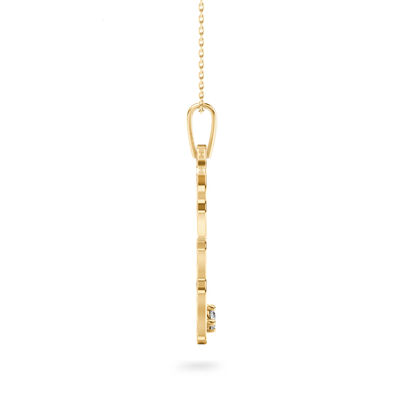 My Africa Large Diamond Pendant in 14K Yellow Gold, , large image number null